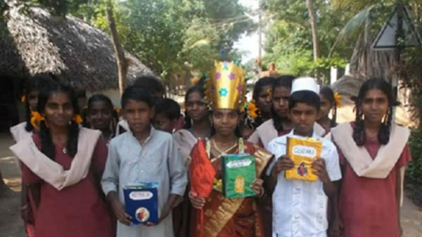 Went to each house in their village and spread the message of the Bible, the Quran and  the Bhagavad Gita's words for not committing suicide