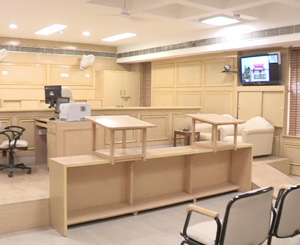 A model courtroom